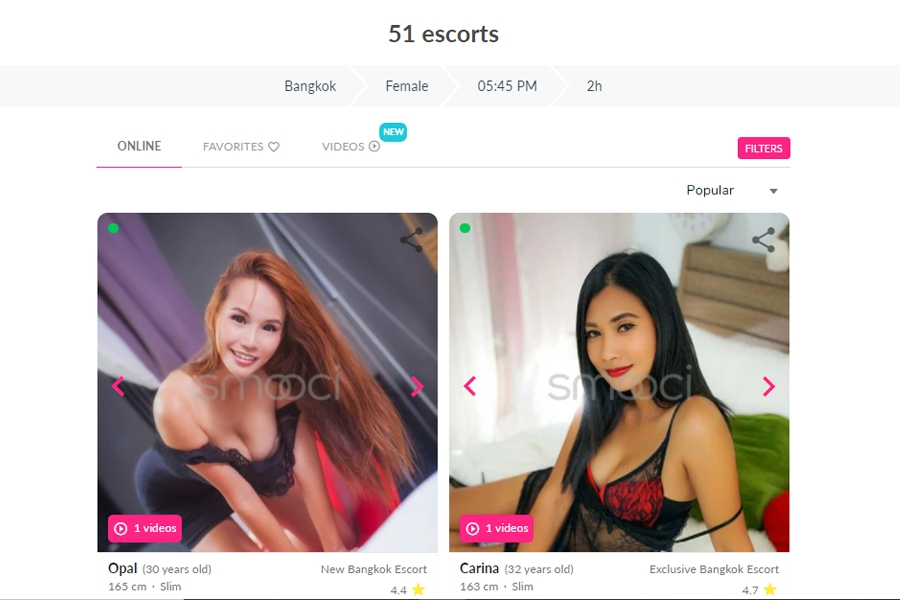 Smooci Escort profiles