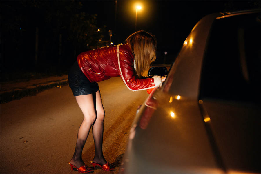 Street hookers in China